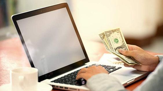 money at laptop side hustle