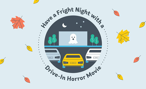 drive in horror movie graphic