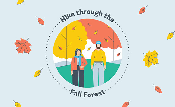 hike fall forest graphic