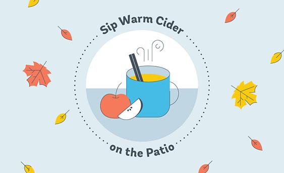 sip warm cider graphic