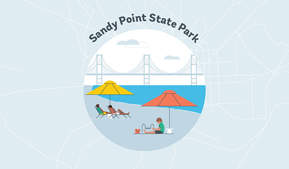 sandy point state park graphic