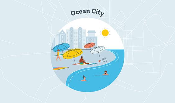 ocean city graphic