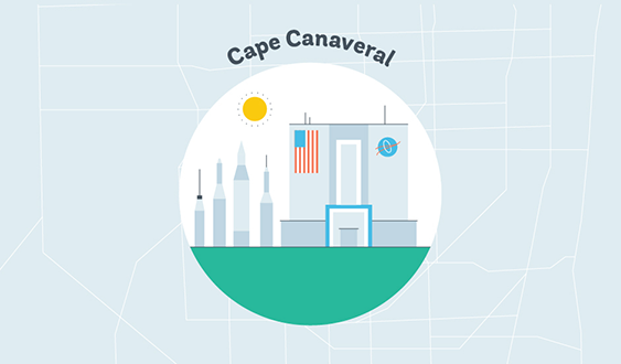 cape canaveral graphic