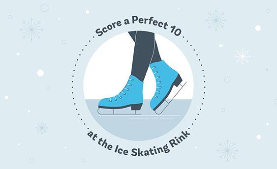 ice skating rink graphic