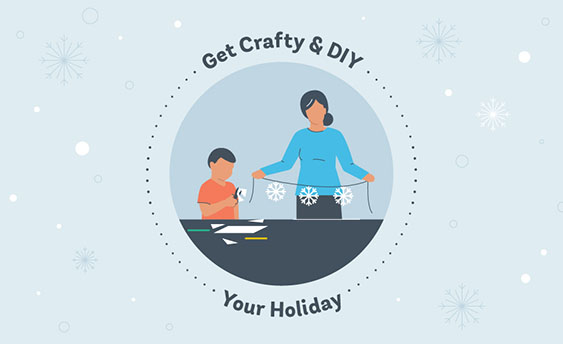 holiday DIY crafts graphic