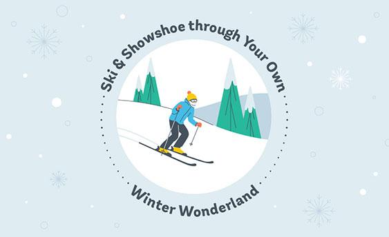 ski and snowshoe graphic