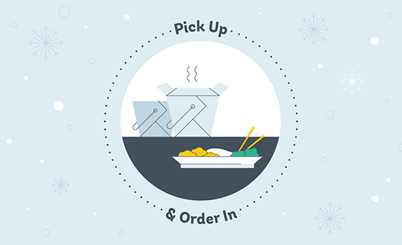 pick up and order in graphic
