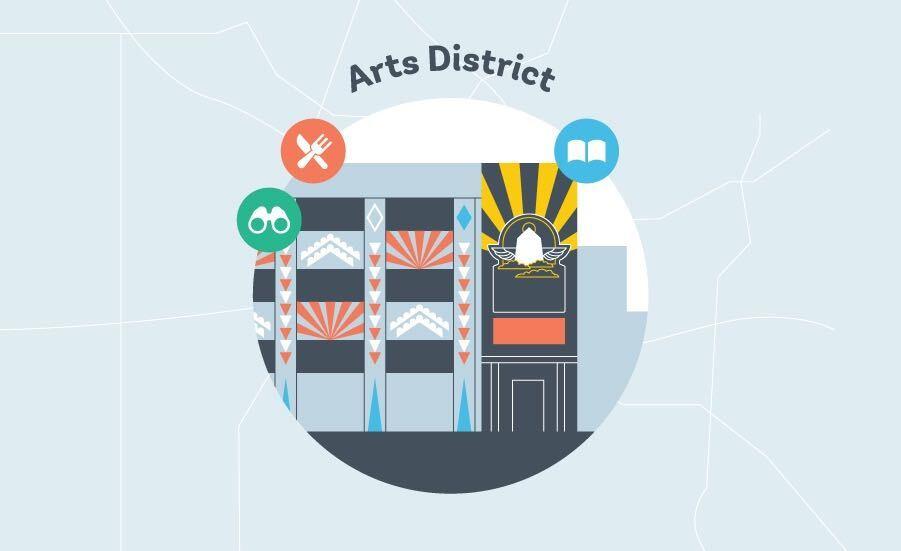 Los Angeles Arts District Graphic
