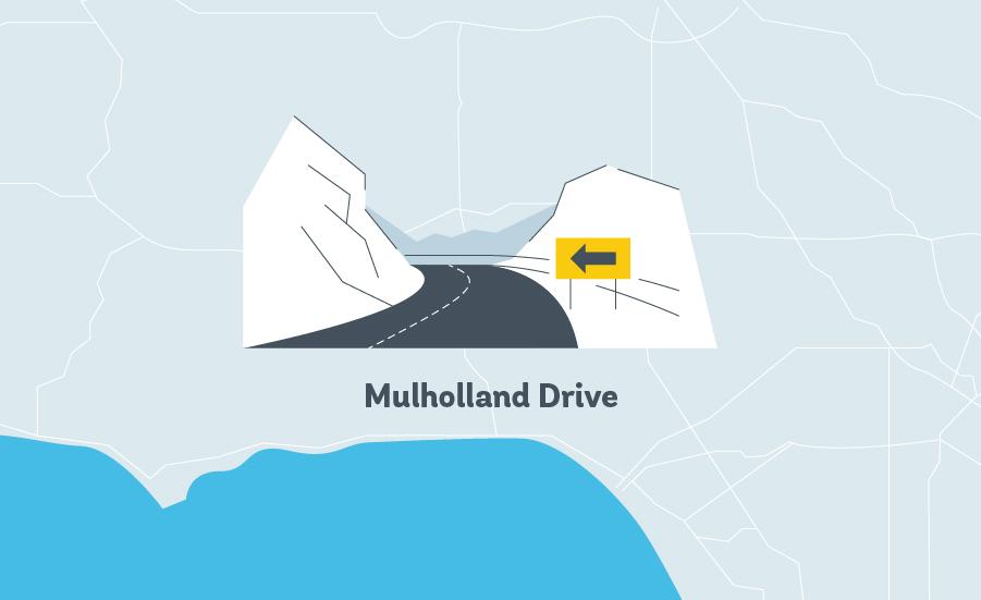 mulholland drive LA Graphic