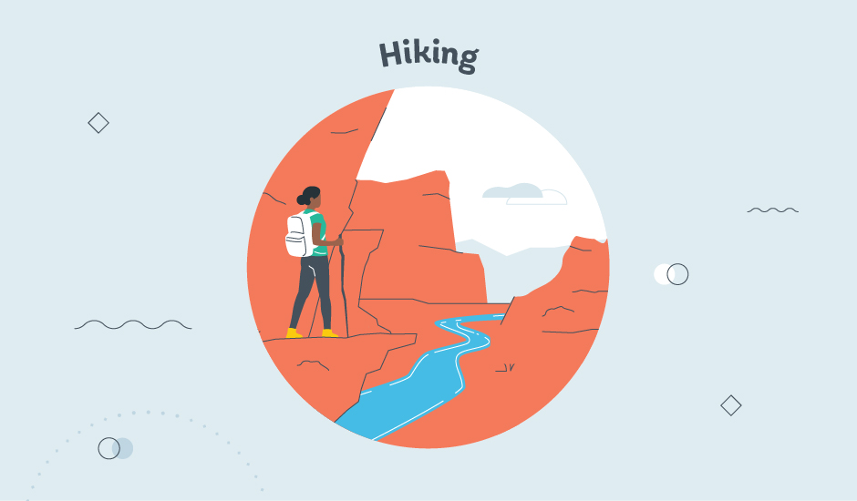 hiking in the grand canyon graphic