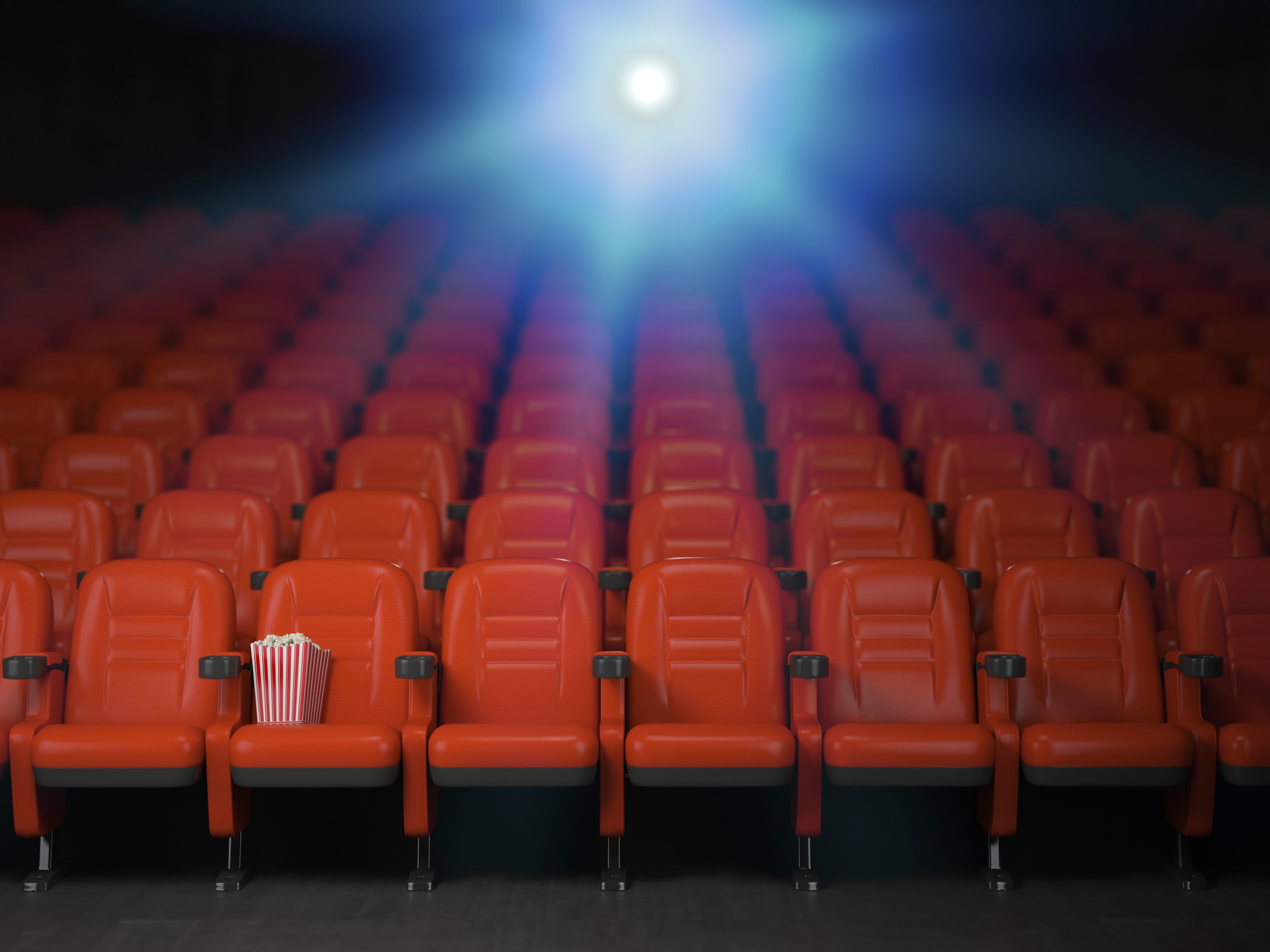 Theater seats with projector