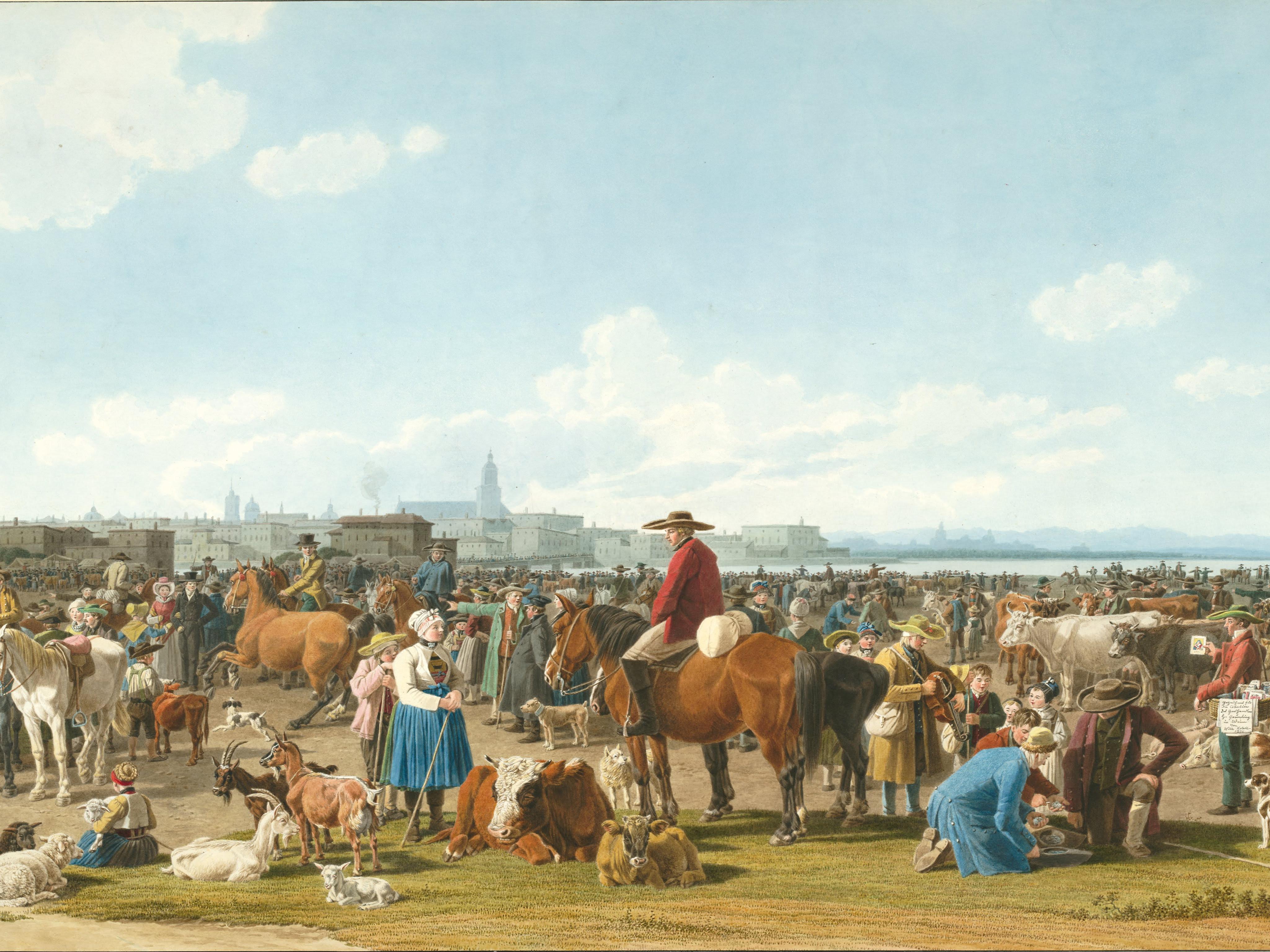 Wilhelm von Kobell, Cattle Market