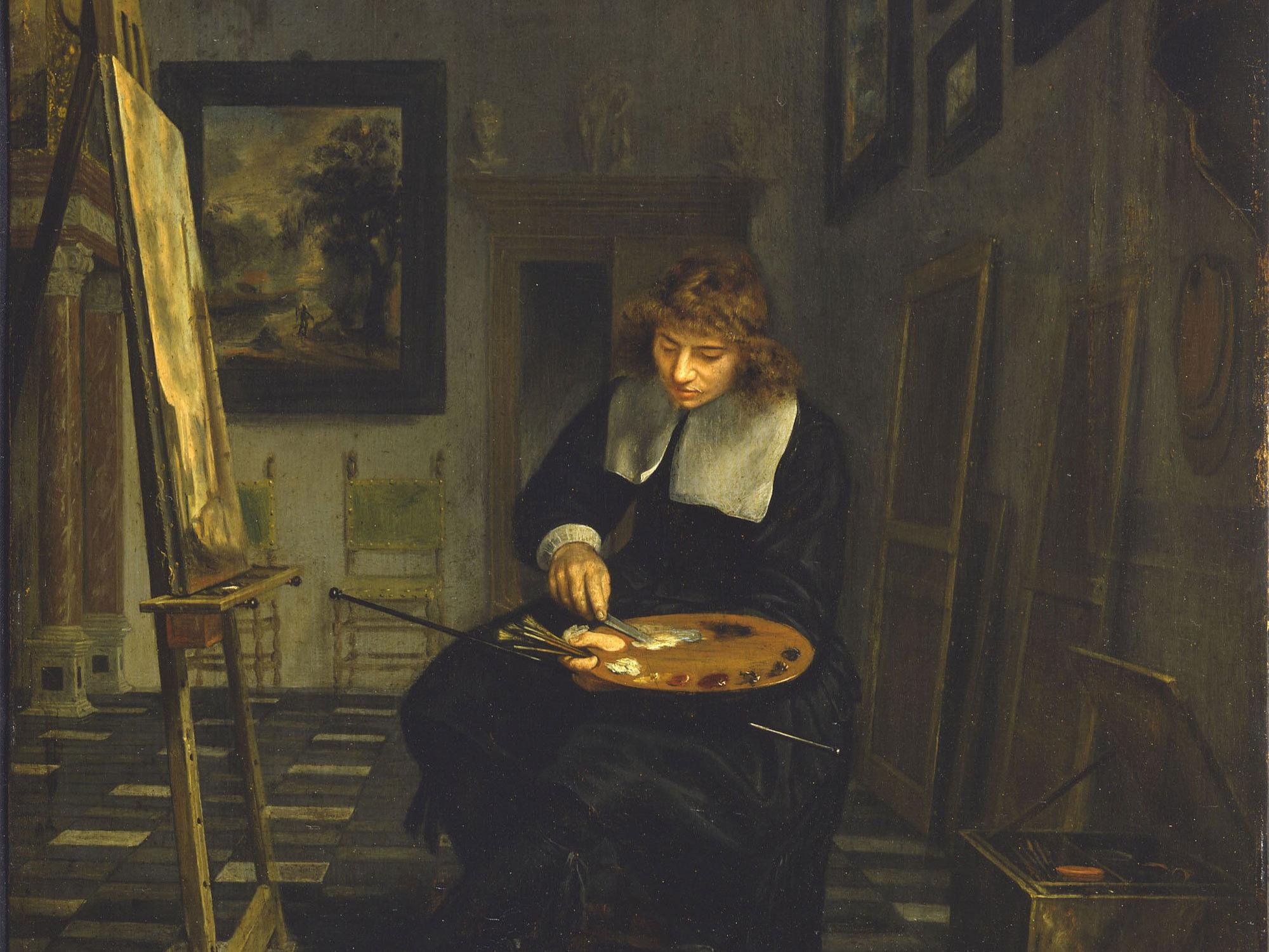 Portrait of an Artist in His Studio, van Musscher