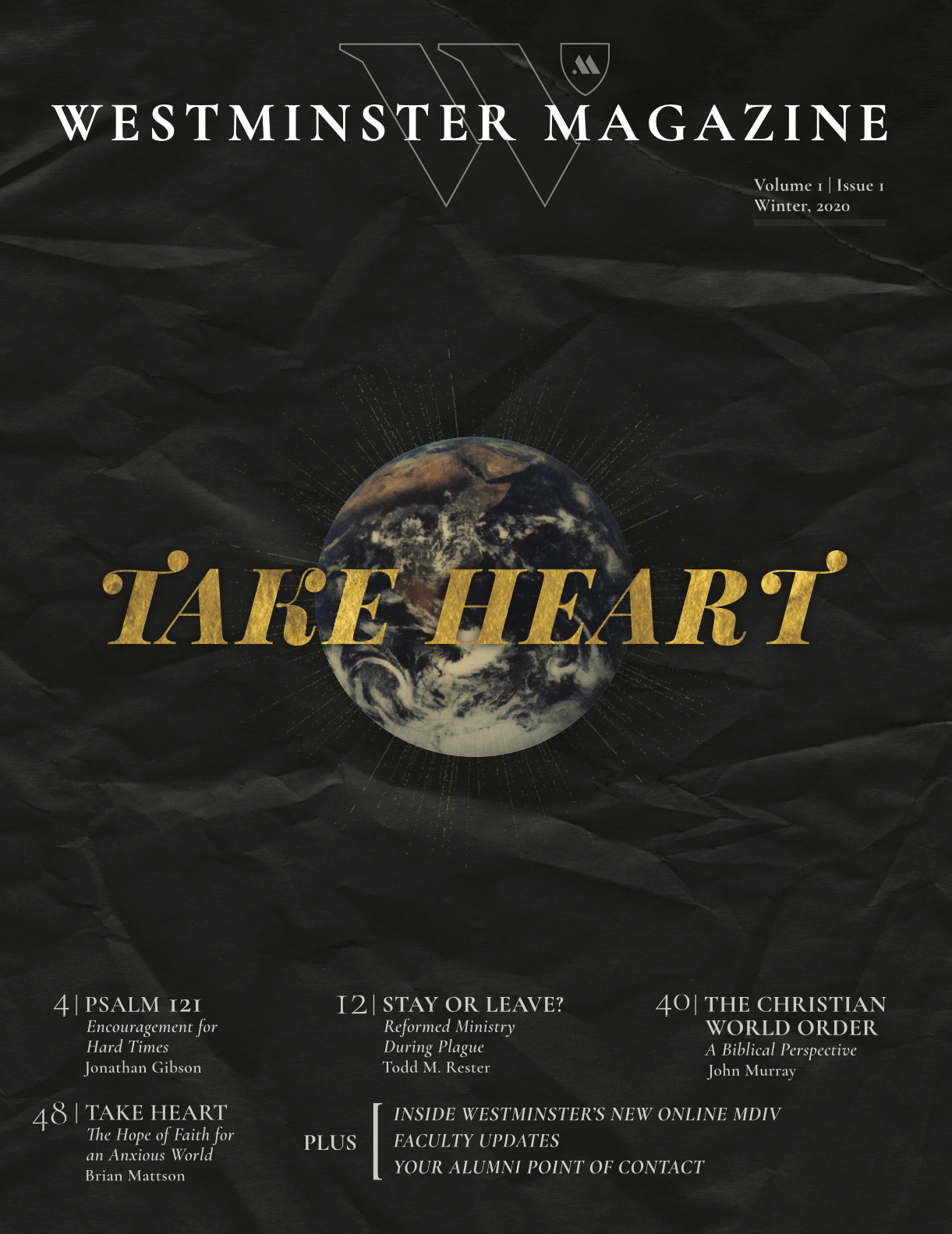 Westminster Magazine issue 1 cover, Take Heart