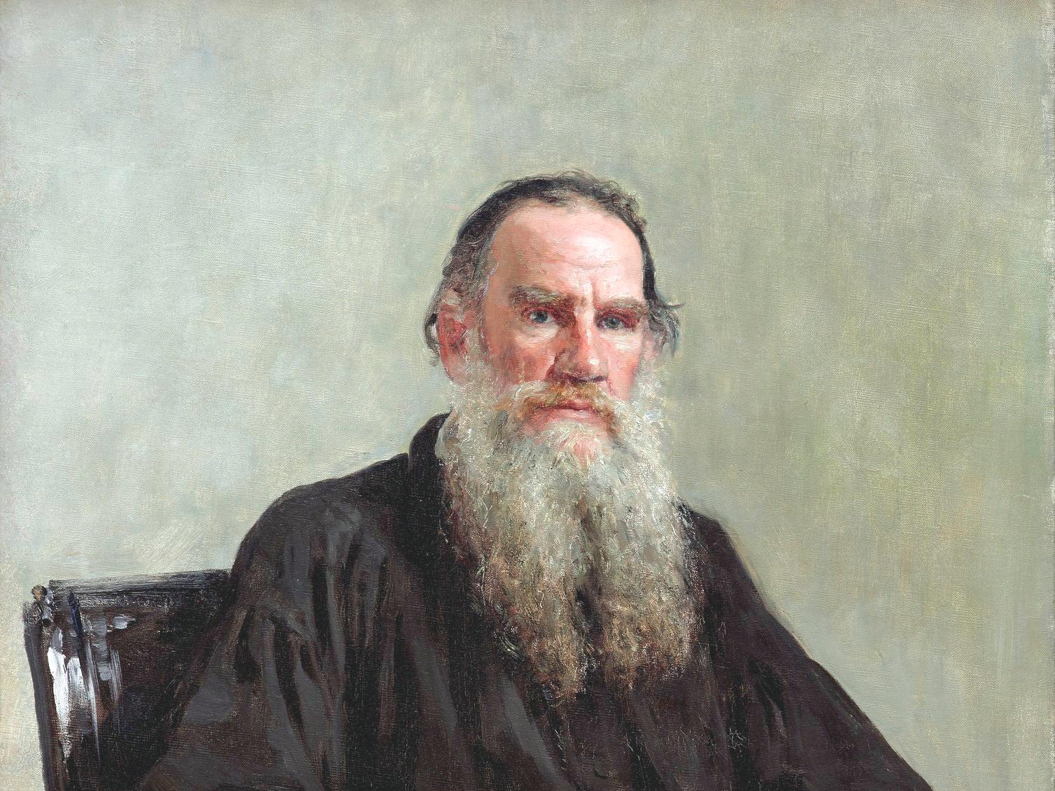 Portrait of Tolstoy, Illya Efimovich (1887)