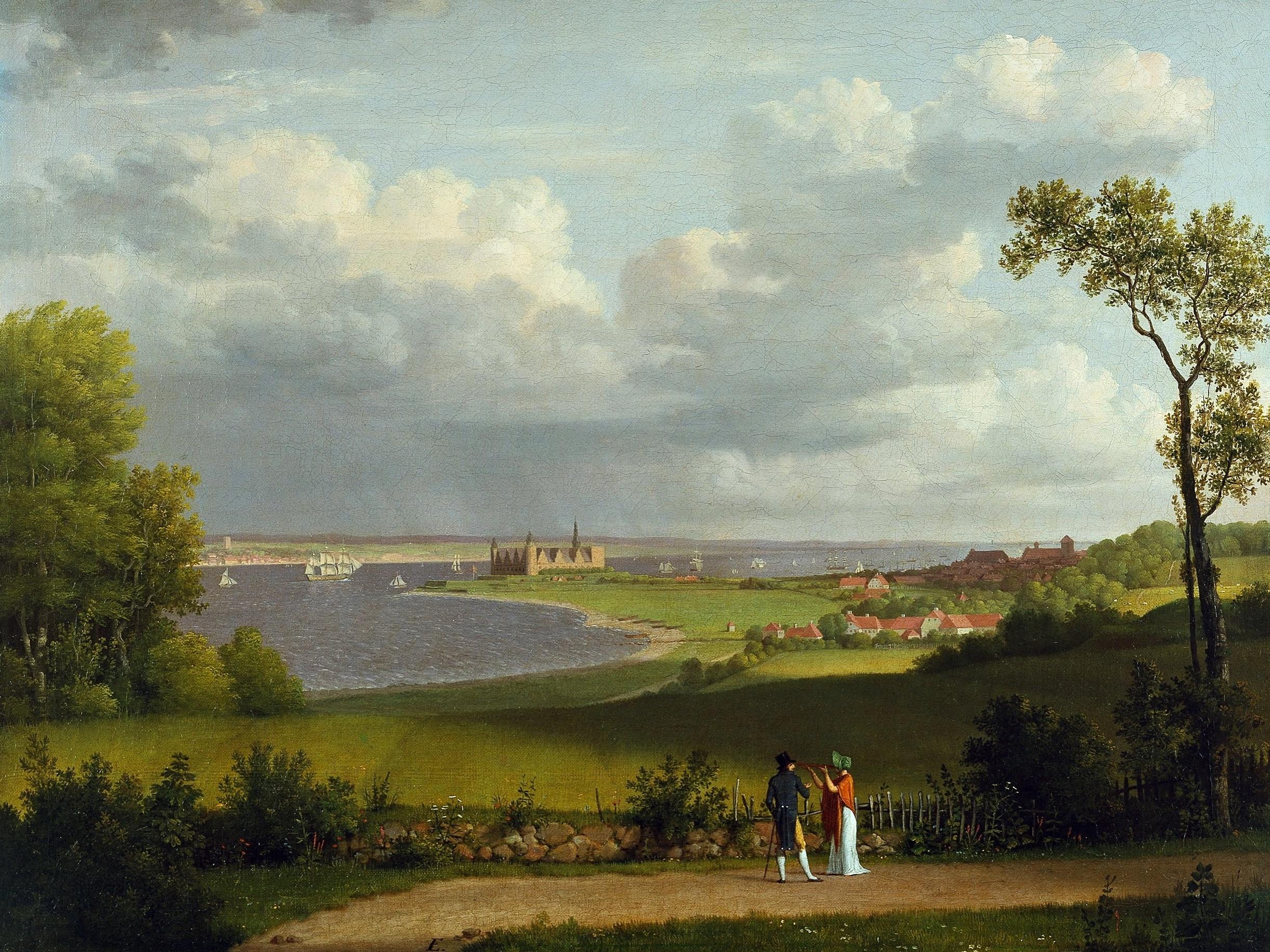 Christoffer Wilhelm-Eckersberg (1783-1853): View North of Kronborg Castle (c.1810)