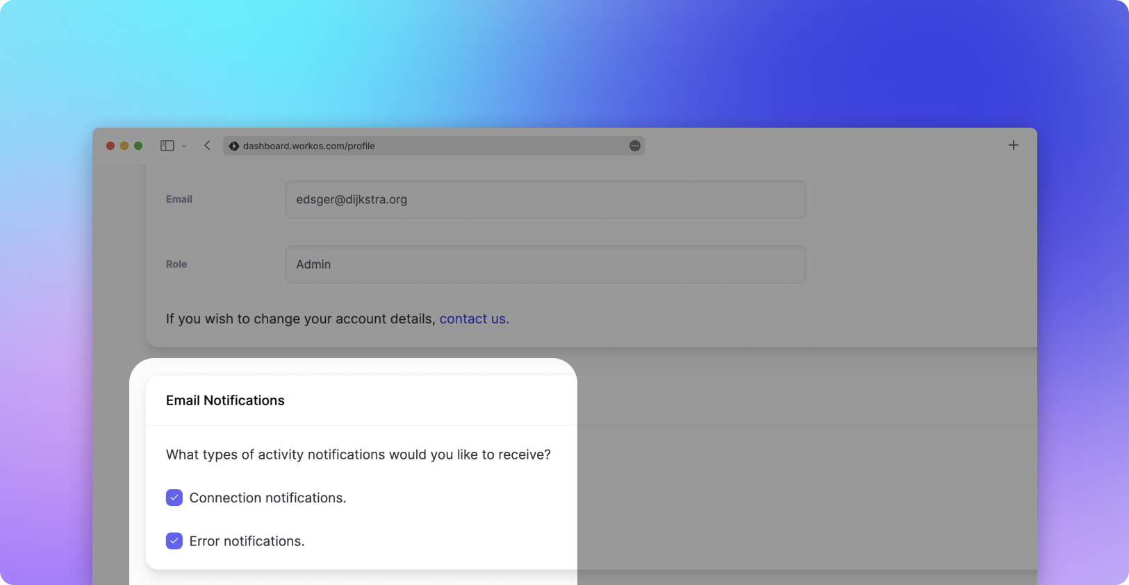 Email Notification Preferences