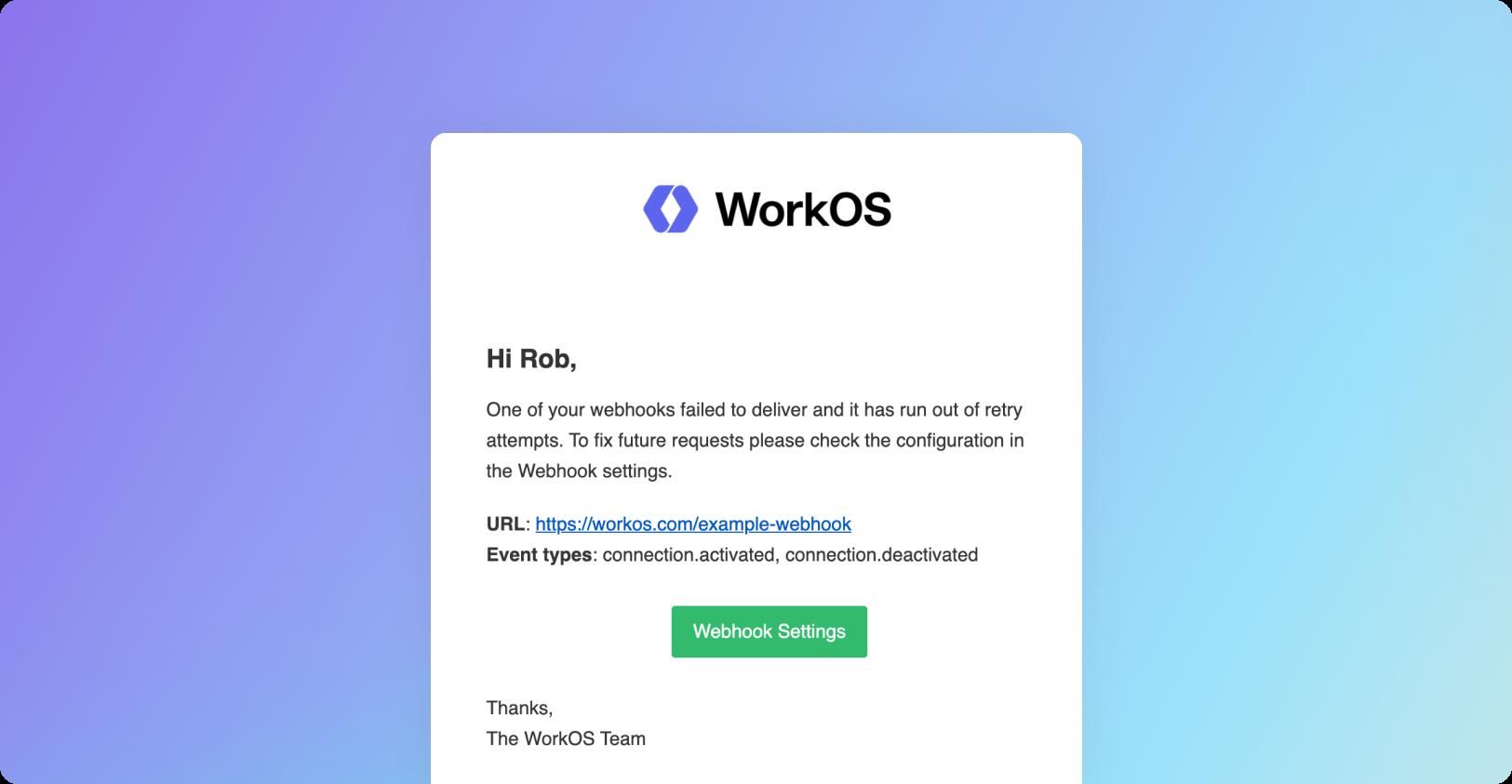 Webhook Failure Notifications