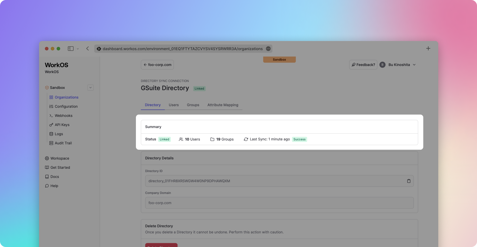 Improved Directory summary view