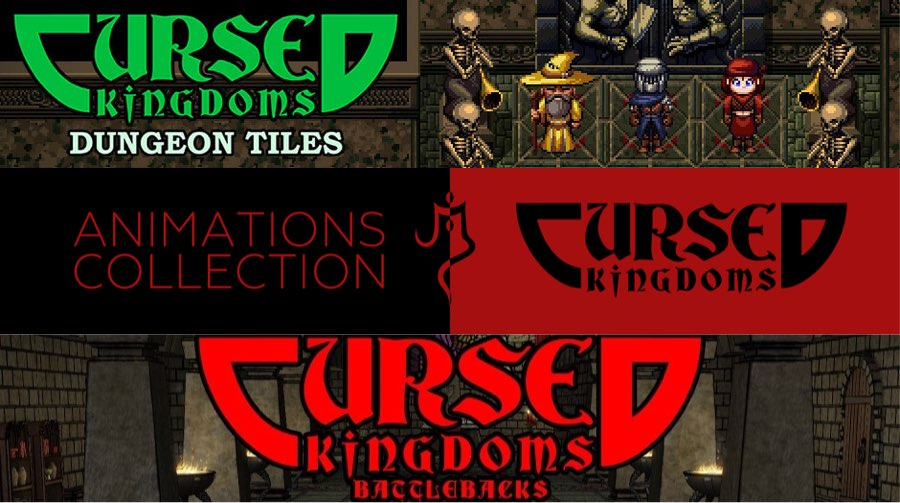 New Releases: Cursed Kingdoms Dungeon Tiles, Battlebacks, Animations Collection