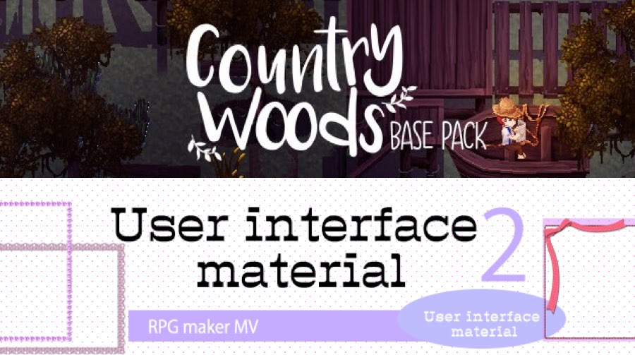 New Releases: Country Woods Base Pack, User Interface Material
