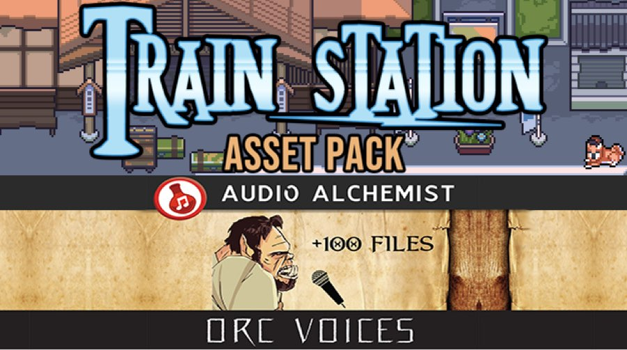 New Releases - Train Station Asset Pack, Orc Voices