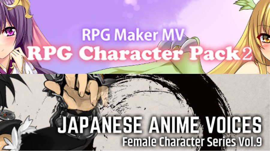 New Releases - RPG Character Pack2, Japanese Anime Voices: Female Character Series Vol.9