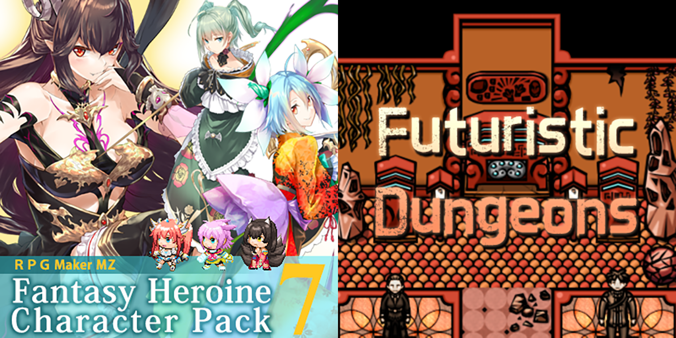New Releases - Fantasy Heroine Character Pack 7, Futuristic Dungeons