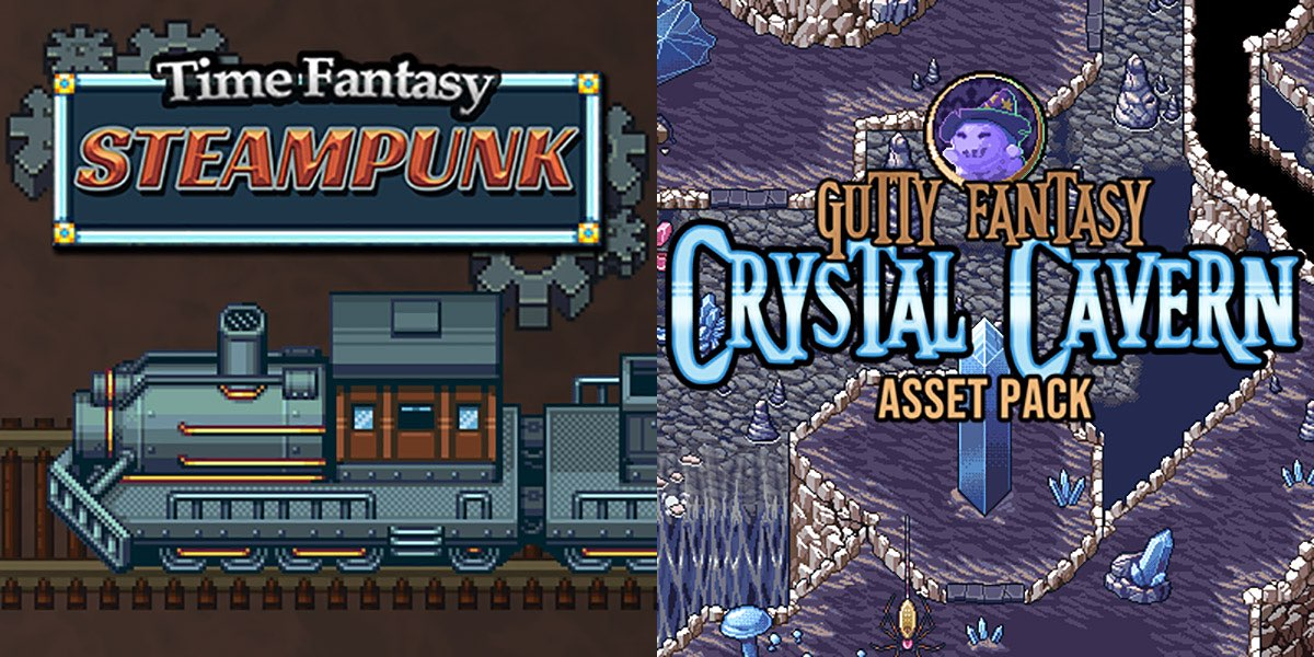 New Releases - Time Fantasy: Steampunk, Crystal Cavern Asset Pack