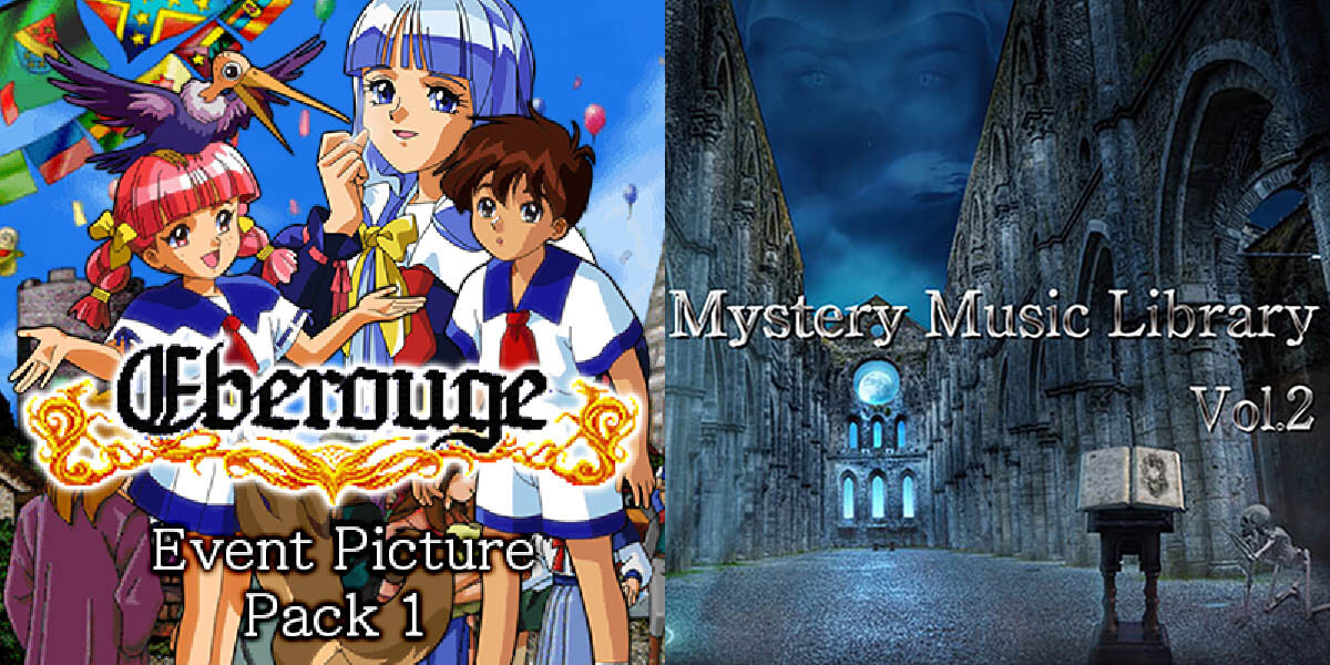 New Releases: Eberouge Event Picture Pack 1, Mystery Music Library Vol.2