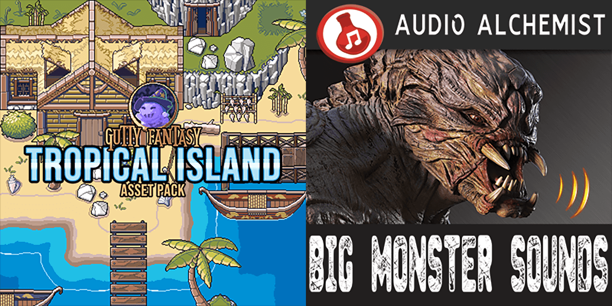 New Releases - Tropical Island Game Assets, Big Monster Sounds
