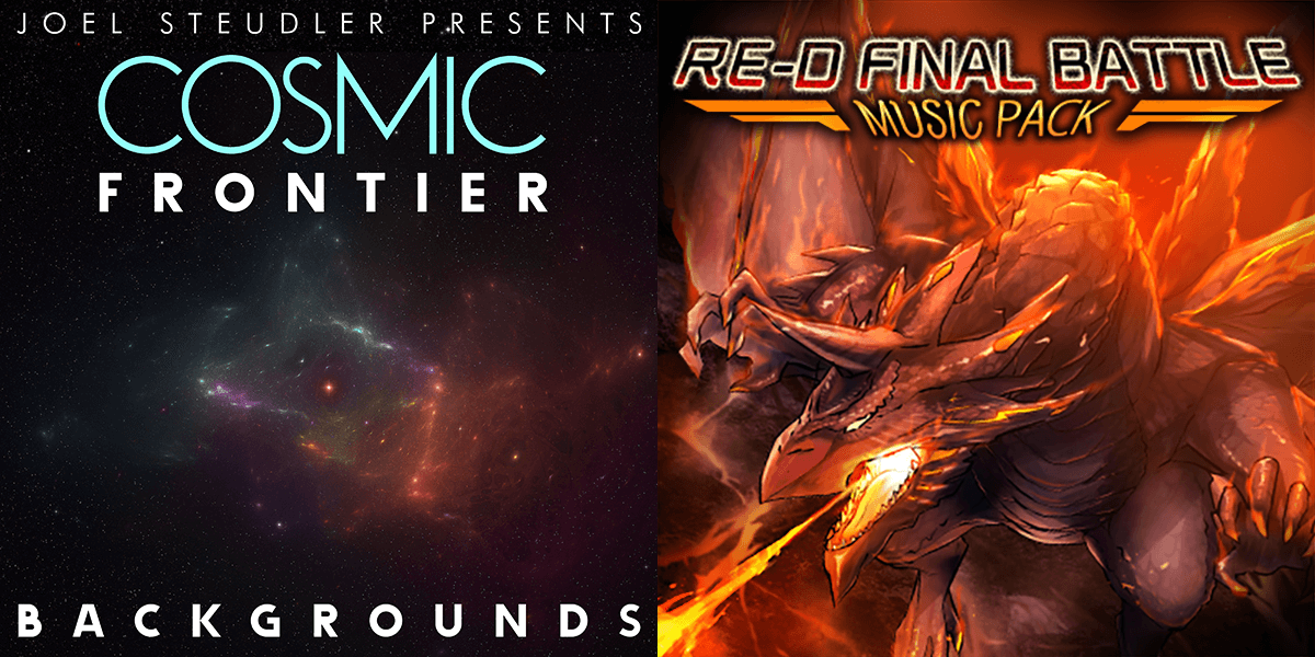 New Releases: Cosmic Frontier Backgrounds & RE-D FINAL BATTLE MUSIC PACK