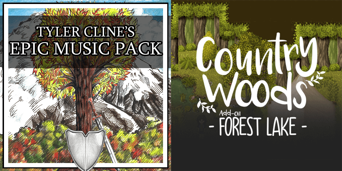 New Releases: Tyler Cline's Epic Music Pack, Country Woods Add-on Forest Lake
