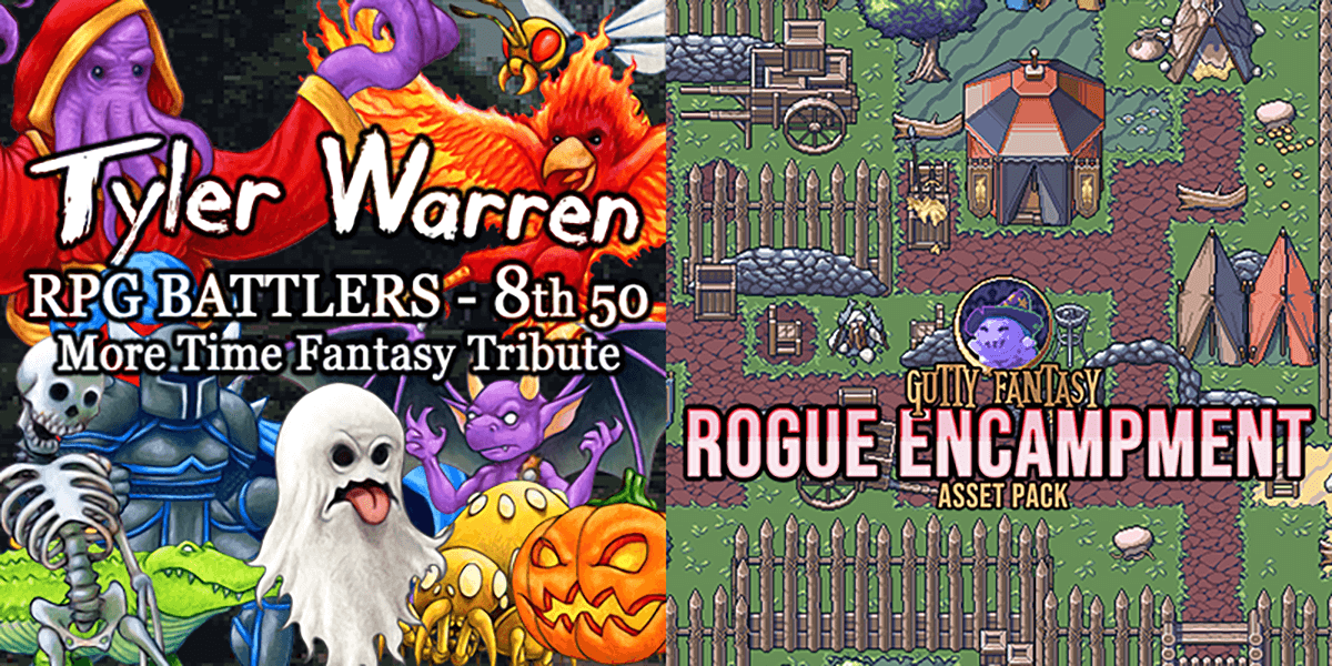 New Releases: Tyler Warren RPG Battlers 8th 50, Rogue Encampment Game Assets