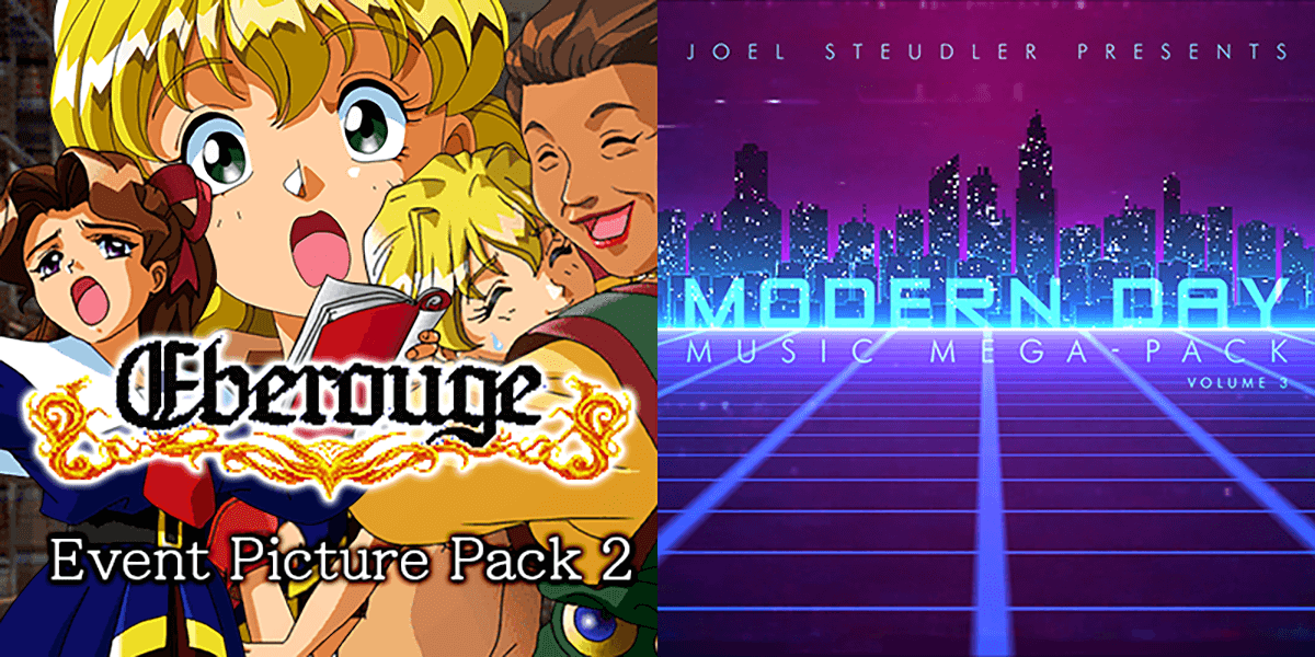 New Releases: Eberouge Event Picture Pack 2, Modern Day Music Mega-Pack Vol 03