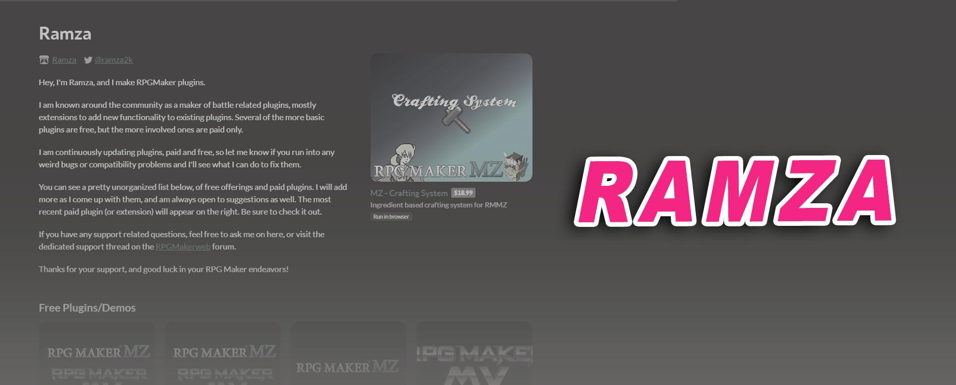 Plugin Tutorial: Ramza's Crafting System