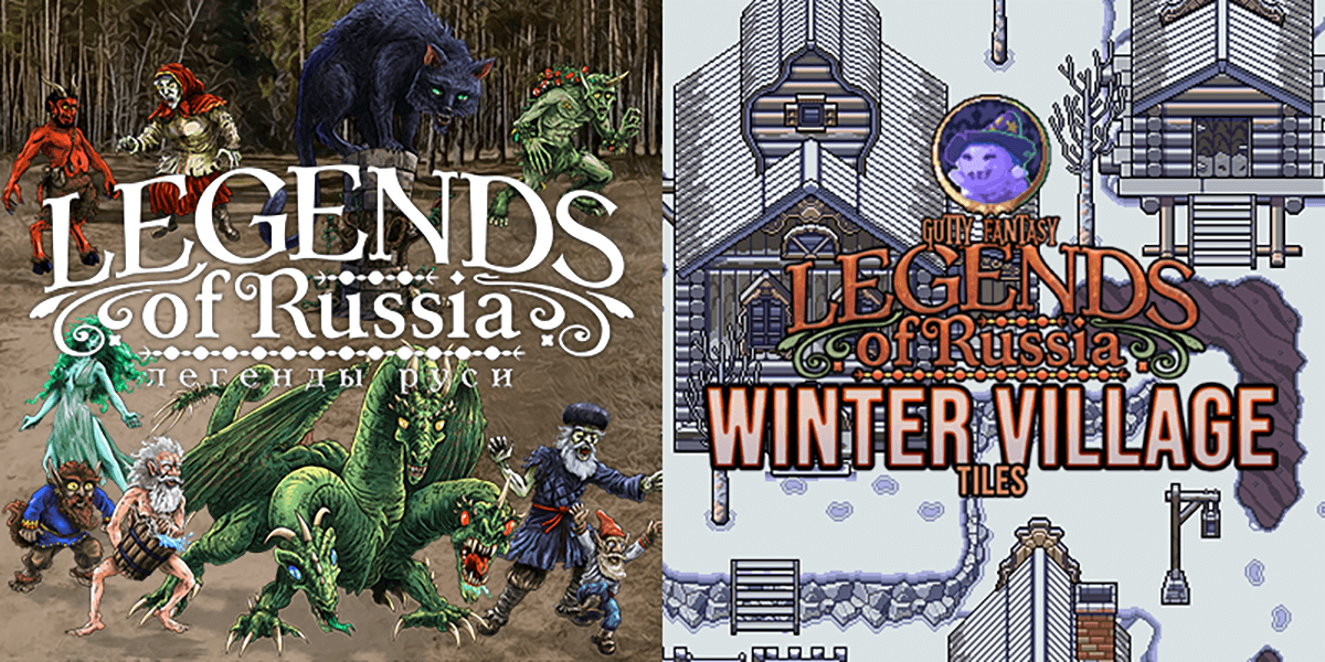 New Releases: Legends of Russia - Battler Pack, Legends of Russia - Winter Village Tiles