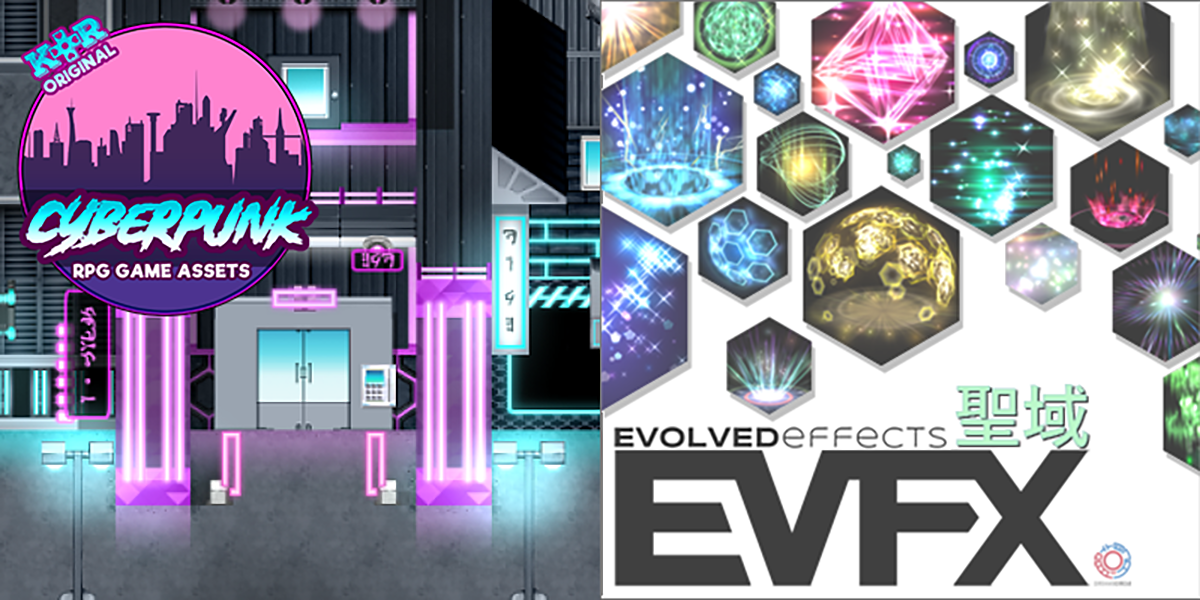 New Releases: KR Cyberpunk Tileset, EVFX Sanctuary