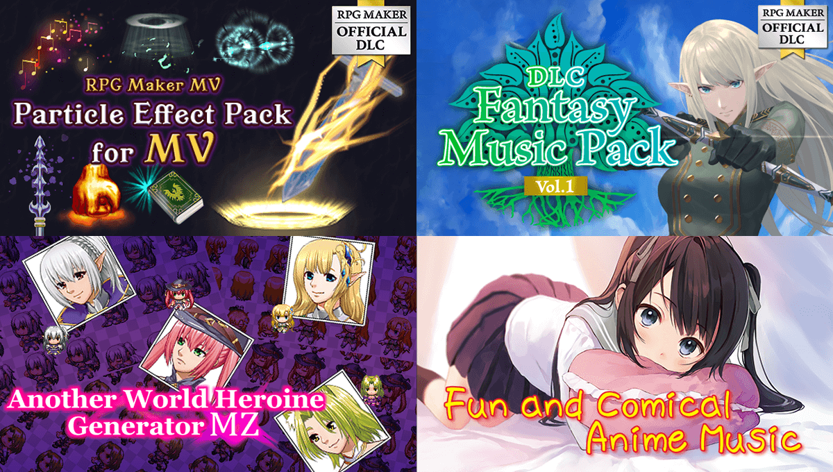 New Releases! 4 New Packs! Music, Animations, and more!