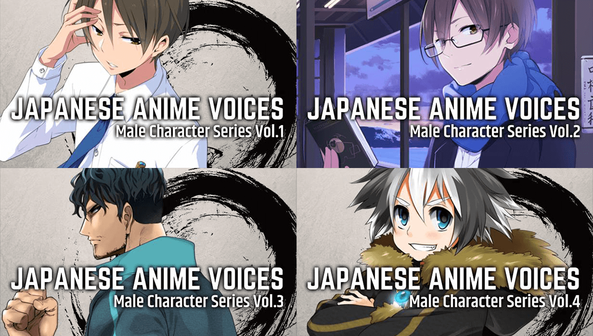 Resource Pack Updates: Japanese Anime Voices: Male Character Series Vol. 1-9