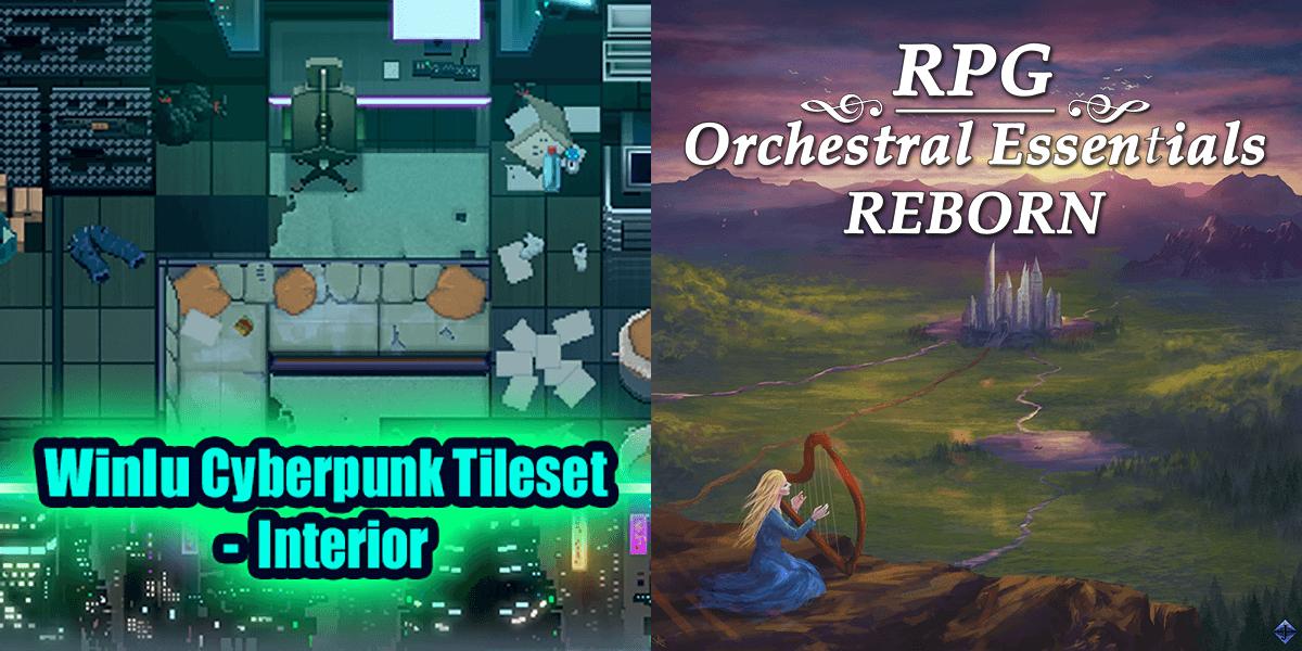 New Releases: Winlu Cyberpunk Tileset - Interior, RPG Orchestral Essentials Reborn