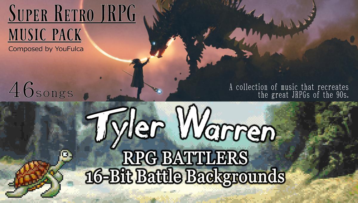 New Releases: Super Retro JRPG Music Pack, Tyler Warren RPG 16-Bit Battle Backgrounds
