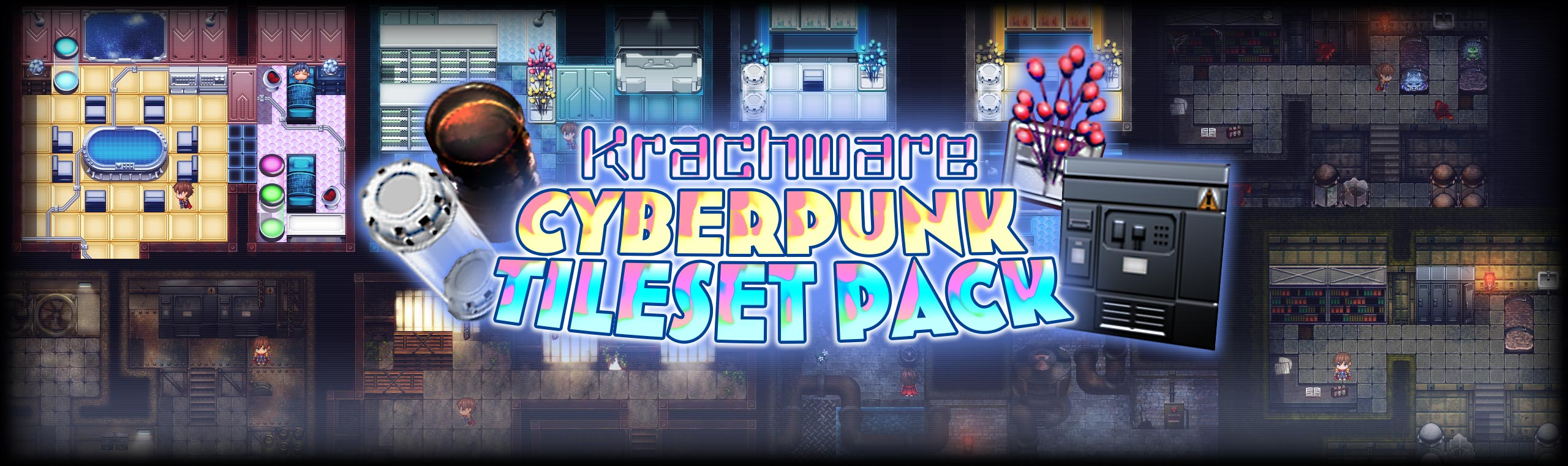 Krachware Cyberpunk Tileset Pack