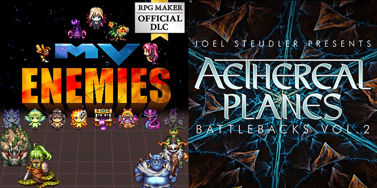 New Releases: MV Enemies - Character Sprites, Aethereal Planes Battlebacks Vol 2