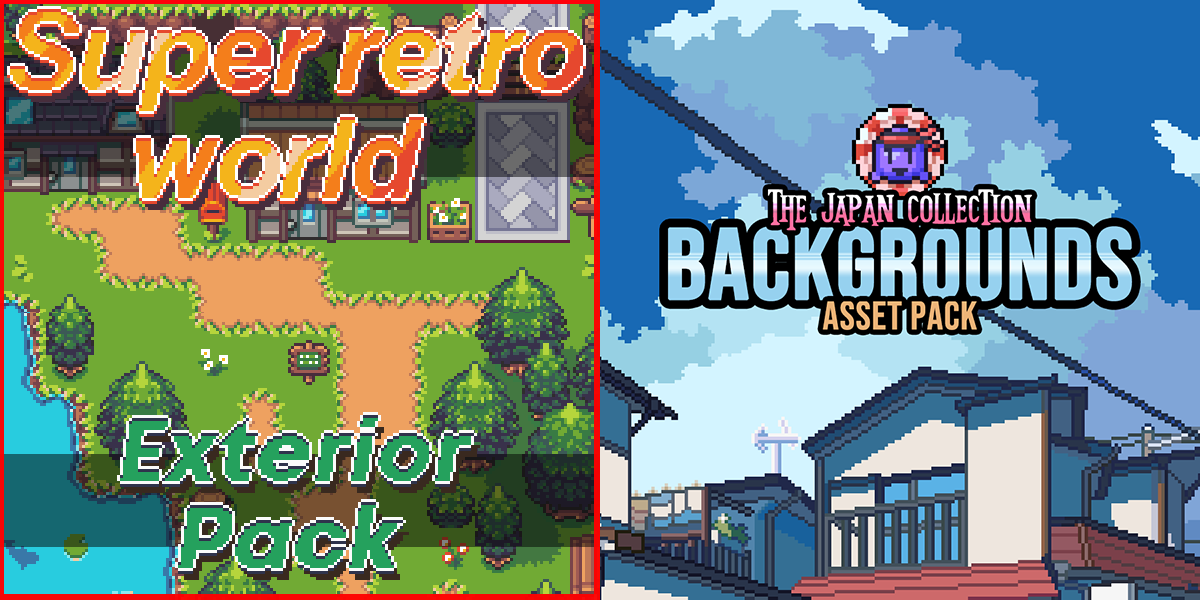 New Releases: Super Retro World - Exterior Pack, The Japan Collection - Backgrounds