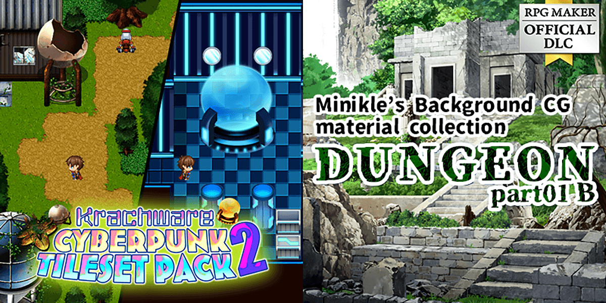 """New Releases: Krachware Cyberpunk Tileset Pack 2, Minikle's Background CG Material Collection """"Dungeon"""" part01 B"""
