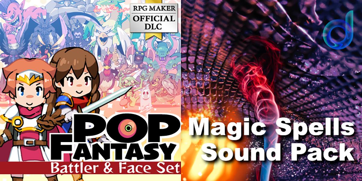 New Releases: Pop Fantasy Battler and Face Set, Magic Spells Sound Pack
