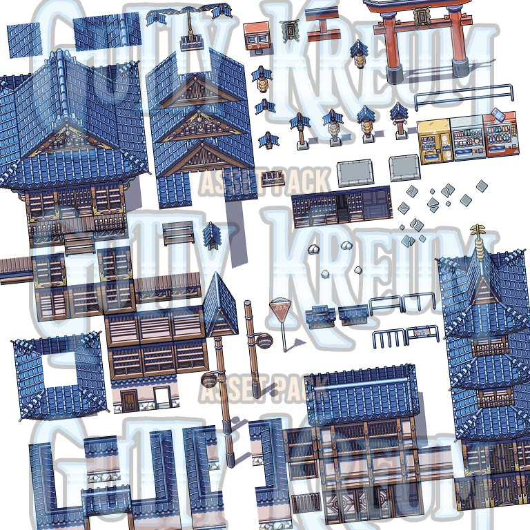 Japanese Shrine and Temple Game Assets