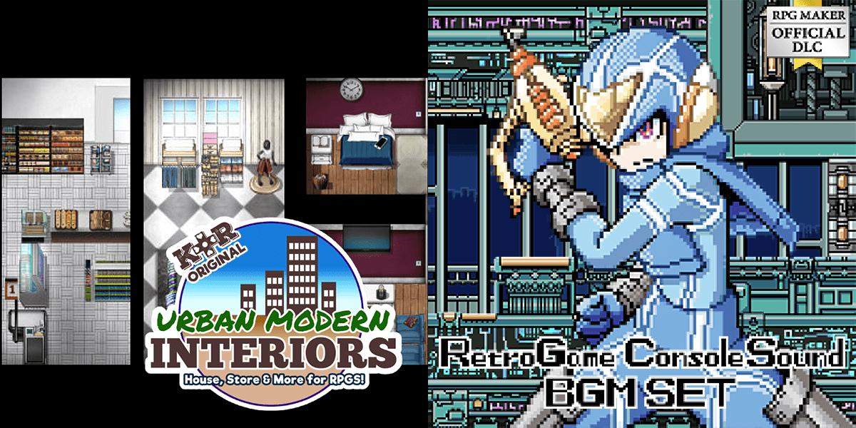 New Releases: KR Urban Modern Tileset - Interiors, Retro Game Console Sound BGM Set