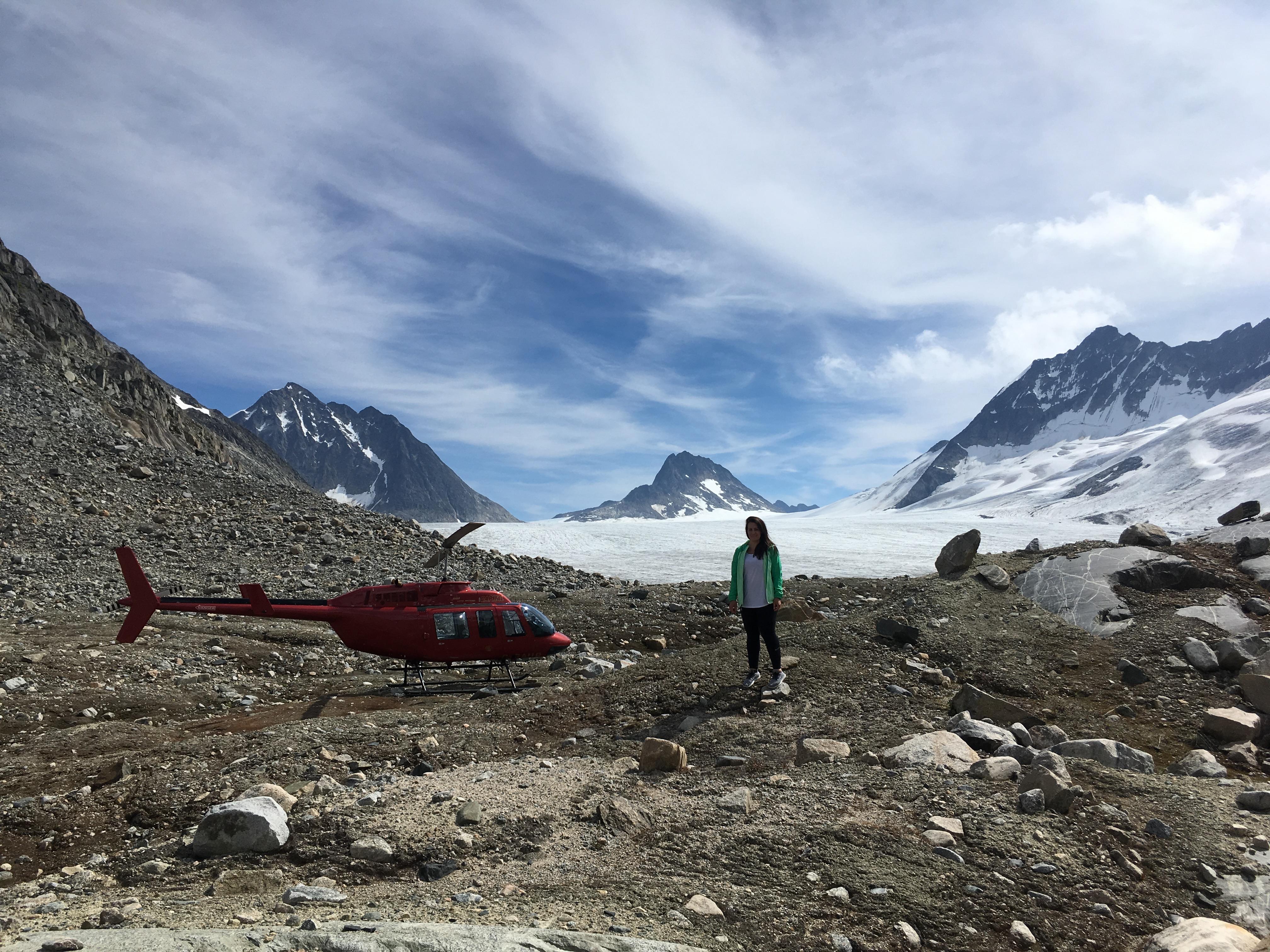 Tour of Royal Glacier Yukon Canada.